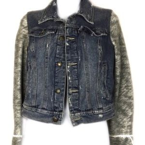Anthropologie Free People Distressed Jacket SZ XS
